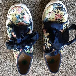 Dirty Laundry floral velvet sneakers